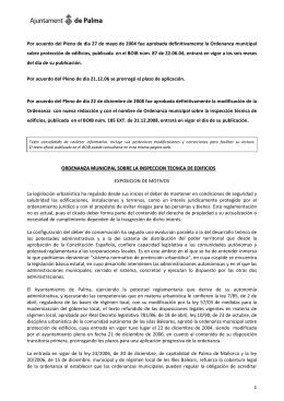 ordenanza municipal sobre la inspeccion tecnica de edificios