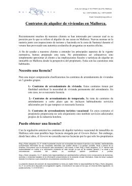 Contratos de alquiler de viviendas en Mallorca