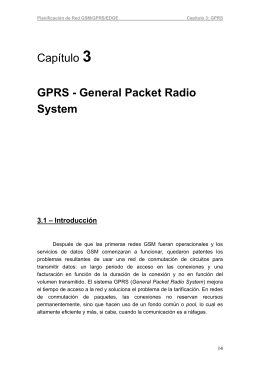 Capítulo 3 GPRS - General Packet Radio System