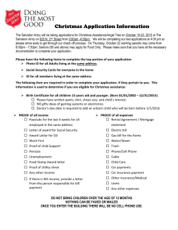 Christmas Application Information