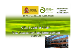 Risk Assessment and Enforcement aspectsGMO Foods in Spain