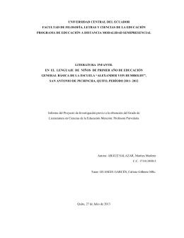 universidad central del ecuador facultad de filosofía, letras y
