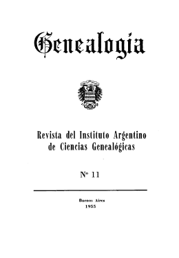 Genealogía : revista del Instituto Argentino de Ciencias