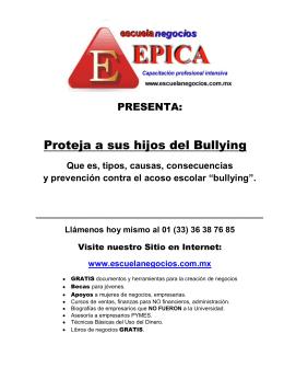 Proteja a sus hijos del Bullying