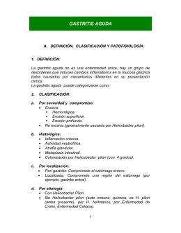 GASTRITIS AGUDA - ESE Salud Pereira