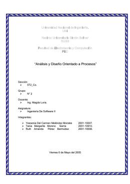 """""""Análisis y Diseño Orientado a Procesos"""""""