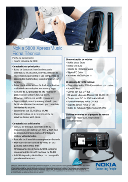 Microsoft PowerPoint - Nokia 5800 XpressMusic_Data sheet Final [S