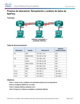 Recopilación y análisis de datos de NetFlow