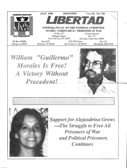 "William ""Guillermo"" Morales Is. Free! A . Victory"