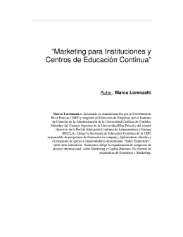 Marketing para Instituciones y Centros de Educación Continua