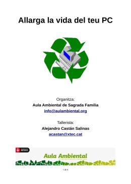 Material informático y contaminación medioambiental