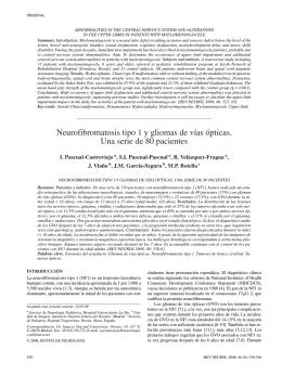 Neurofibromatosis tipo 1 y gliomas de vías ópticas. Una serie de 80