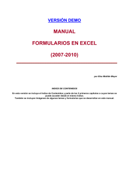 MANUAL FORMULARIOS EN EXCEL (2007