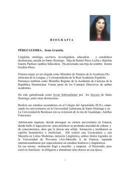 PÉREZ GUERRA, Irene - Academia de Ciencias RD