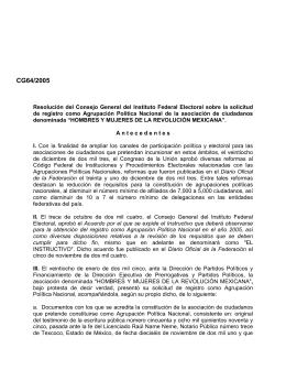 CG64/2005 - Instituto Nacional Electoral