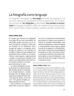 La fotografía como lenguaje. Introducción de Juan Varela