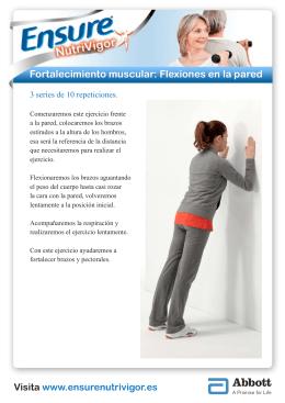 Fortalecimiento muscular: Flexiones en la pared