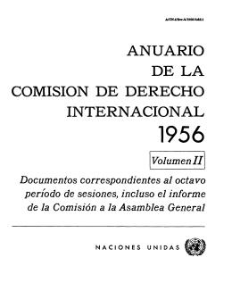 Anuario de la Comisión de Derecho Internacional, 1956, Volumen II