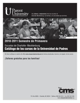 Catálogo de los cursos de la Universidad de Padres