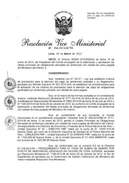 Lima, 20 de EJJere de 2015 VISTO: El Informe 000001