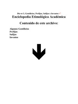 Enciclopedia Etimológica Académica Contenido de