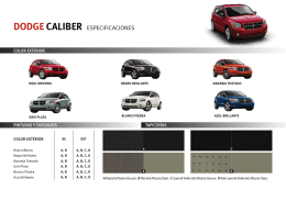 DODGE CALIBER ESPECIFICACIONES