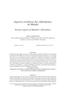 hibridismo» de Mendel - Pablo Lorenzano