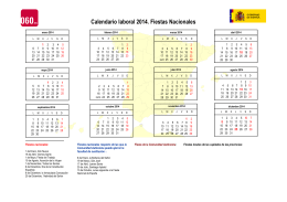 Calendario laboral Comunidad de Madrid 2014