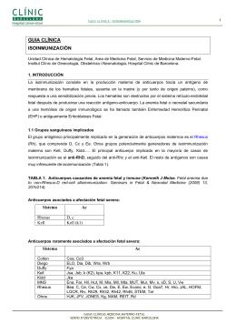 Isoinmunización y transfusión intrauterina