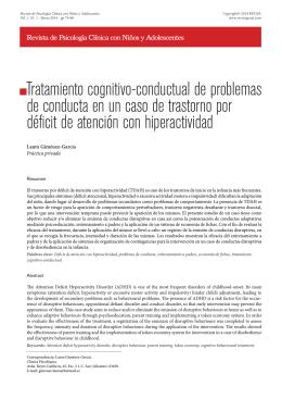 Tratamiento cognitivo-conductual de problemas de conducta en un