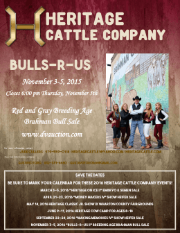 View PDF Catalog - Heritage Cattle Company