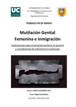 Mutilación Genital Femenina e Inmigración
