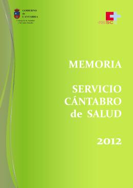 MEMORIA SERVICIO CÁNTABRO de SALUD