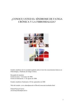 Estudio Fibromialgia y Síndrome de Fatiga Crónica. ( pdf