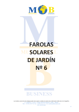 Farolas solares de jardín - Multicanal Business LED MBEL