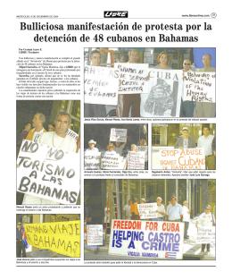 Bulliciosa manifestación de protesta por la detención