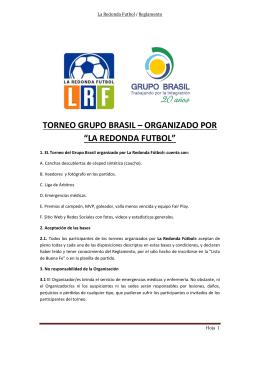 """torneo grupo brasil – organizado por """"la redonda futbol"""""""