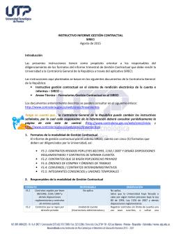 Instructivo Informe de Gestión Contractual UTP 2015