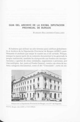 guia del archivo de la excma. diputacion provincial de burgos