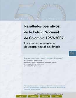 Resultados operativos de la Policía Nacional de Colombia 1959