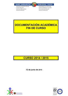 Documentación Académica 2014-2015