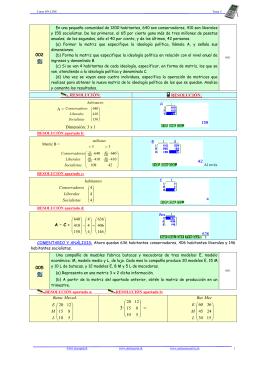 002 RESOLUCIÓN: RESOLUCIÓN: A = Dimensión: 3 x 1 A – C = 005