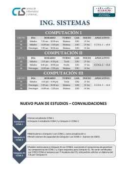 NUEVO PLAN DE ESTUDIOS – CONVALIDACIONES