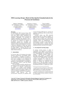 IMS Learning Design - Gestión de recursos informáticos del