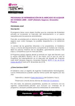 programa ASAP - Gipuzkoangazte.info