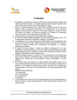 La Obesidad - Asociación Colombiana de Endocrinología
