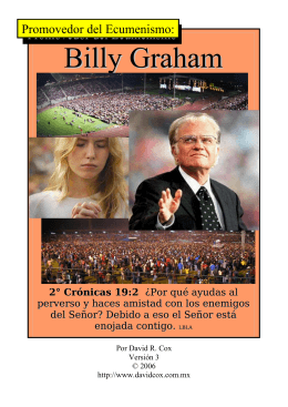 Billy Graham, Promovedor del Ecumenismo
