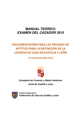 MANUAL TEÓRICO EXAMEN DEL CAZADOR 2015