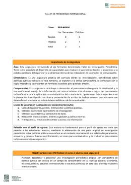 TALLER DE PERIODISMO INTERNACIONAL