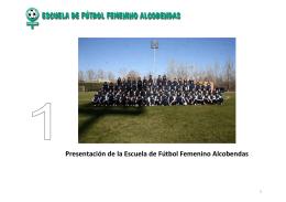 Presentación de la Escuela de Fútbol Femenino Alcobendas